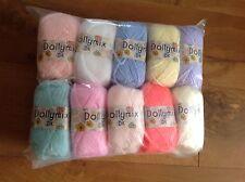 10 x boules de King Cole Dolly mix pastel - 25g-idéal pour vêtements poupées / jouets