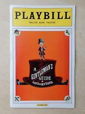 November 17th, 2013 - ON - Walter Kerr Theatre Playbill - A Gentleman's Guide...