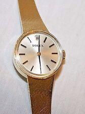 Vintage Rolex 14K Yellow Gold Ladies Wristwatch in Red Watch Box