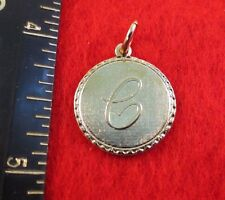 14KT GOLD EP LETTER C ROUND INITIAL DISC CHARM WAS $8.95