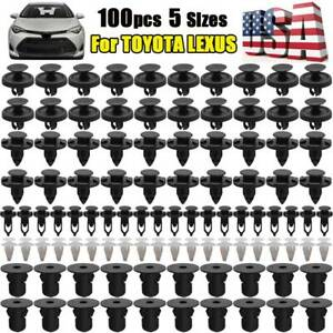100X Car Clips Auto Fastener Inner Engine Hood Grille Rivets Retainer For TOYOTA