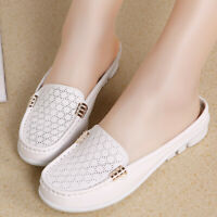 Women's Leather Loafers Breathable Driving Shoes Casual Comfort Walking Flat Sh