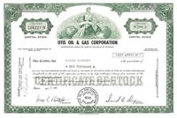 Otis Oil & Gas Corporation > 1971 Colorado old stock certificate share
