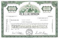 Otis Oil & Gas Corporation > 1971 Colorado old stock certificate share