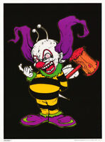 POSTER :COMICAL : BEE COP - CLOWN IN BEE SUIT  -  FLOCKED    #FL3246F  LC1 G