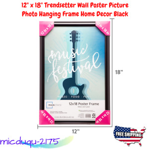 """12"""" x 18"""" Trendsetter Wall Poster Picture Photo Hanging Frame Home Decor Black"""