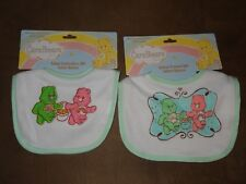 2 Different Care Bears Infant Bibs-One Embroidery & One Printed-Free Shipping
