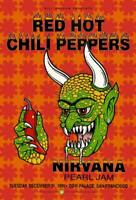 Red Hot Chili, Nirvana, Pearl Jam 1991 Tour Poster