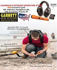Garrett Z-Lynk Ms-3 Wireless Headphone Kit Z-Lynk Pro-Pointer At Metal Detector