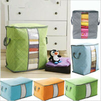 Foldable Home Closet Storage Bag Organizer Box Anti-bacterial Cloth Quilt USA US