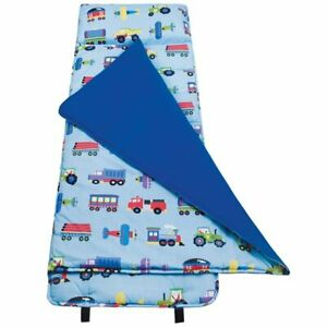 Olive Kids Trains, Planes and Trucks Nap Mat Built in pillow NWT