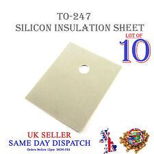 10x TRANSISTOR Isolamento Foglio in silicone TO-247 Isolante Termico Pad 20x25mm