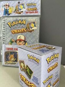 Pokemon Vintage Sealed Booster Box Series 1 Stickers & Sealed Sticker Album