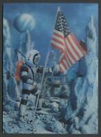 1966 3D Lenticular Postcard A MESSAGE FROM THE MOON, Lunar Module, Printed Japan