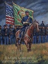 """Maritato Civil War General Thomas F Meagher Irish S/N L/E Canvas 14x18"""" Print"""
