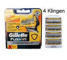 4 Gillette Fusion ProShield Rasierklingen im Blister / 4 Stück / 4er Set - gelb