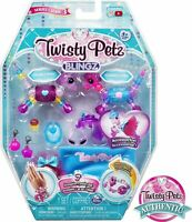 Twisty Petz, Series 3 Blingz, Pony & Zebra or Kitty Cat Bracelet Set for Kids