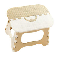 Collapsible Step Stool Anti Slip Kitchen Bathroom Garage Multipurpose Beige