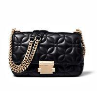 Michael Kors Tasche/Bag Sloan Flora QUILITED SM Chain Shldr Leder Black NEU!