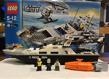 Lego City 7899 Police Boat And Helicopter. 100% Complete & Working