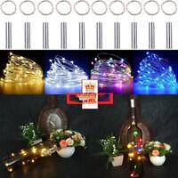 10/15/20 LED Kork Geformt LED Nacht Sternenlicht Weinflasche Lampe für Xmas Part