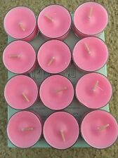 1 Box PartyLite Tealight Candles! Peppermint Snow Scent! Rare - Retired - Htf!