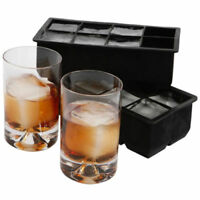 Portable 8-Big Cube  Jumbo Large Silicone Ice Cube Square Tray Mold Mould