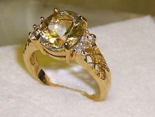 Aquamarin Topas 9 K Gelbgold Solitär Ring