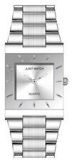 Relojes de pulsera fechas de acero inoxidable plateado, para mujer