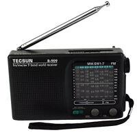 TECSUN R-909 FM/AM/SW World Band Receiver Portable Radio DX/LOCAL Sensitivity