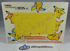 New Nintendo 3DS XL Pikachu Yellow Edition 4GB Yellow Handheld System (USA) RARE