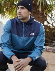 The North Face Cyclone 2 Men's Hoodie  Windbreaker Jacket Packable Size L Blue