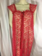 Vintage Exotique Red Lace Cover Up Red Bow at Chest
