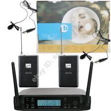 Micwl Uhf Wireless Radio 2 Tie Clip Lavalier Lapel Microphone System 600-650Mhz