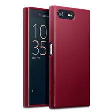 ORIGINALE Sony Xperia Compatto Case Slim X PROTEZIONE TPU GEL UK Tech Rosso Opaco