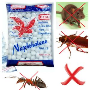 50 Napthalene Moth Balls Pest Insect Control Anti Mold Repellent Scented camphor