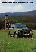 Lada Niva Pirsch Prospekt 1985 Autoprospekt brochure brosjyre broschyr folheto