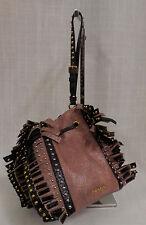 Authentic Prada Studded Crackle Fringe Bag Wristlet MSRP $1,395