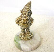 Connemara Marble Ceramic Elf Leprechaun Paperweight Made in Ireland