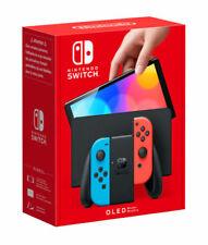 Nintendo Switch Modelo OLED HEG-001 Consola Portátil - 64GB - Negro/Neon Rojo/Neon Azul