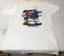 Vintage 1978 Super Bowl Tshirt Dallas Cowboys Denver Broncos New Orleans Used