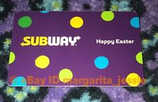 "SUBWAY PURPLE GIFT CARD ""HAPPY EASTER"" 2018 NO VALUE NEW"
