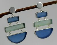 Solid 925 Sterling Silver Jewelry Chalcedony Gemstone Daily Wear Gift Earring