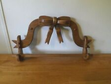 """New listing Wooden Towel Rack Wall Hanging Bow Rustic Country Farmhouse Decor Vintage 23""""W"""