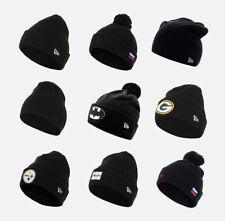 New Era Beanie Black Knit Hat Headwear Women Men Unisex Cuff Essential Bobble