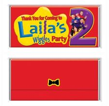 Wiggles Theme Chocolate Wrappers Printable Digital - Print At Home