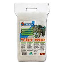 SUPERFISH FILTERWATTE FEIN 250 g WEISS - Filtermaterial Filterwolle Filtervlies