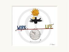 Passepartoutbild von Michael Ferner - 30x24cm - WORK LIFE BALANCE 2