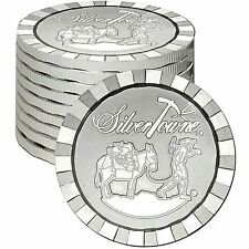 SilverTowne Stackables Trademark Prospector 1oz .999 Silver Round LOT of 10