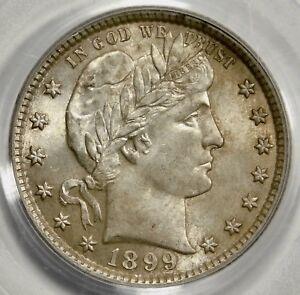 PCGS MS63 1899 Barber quarter